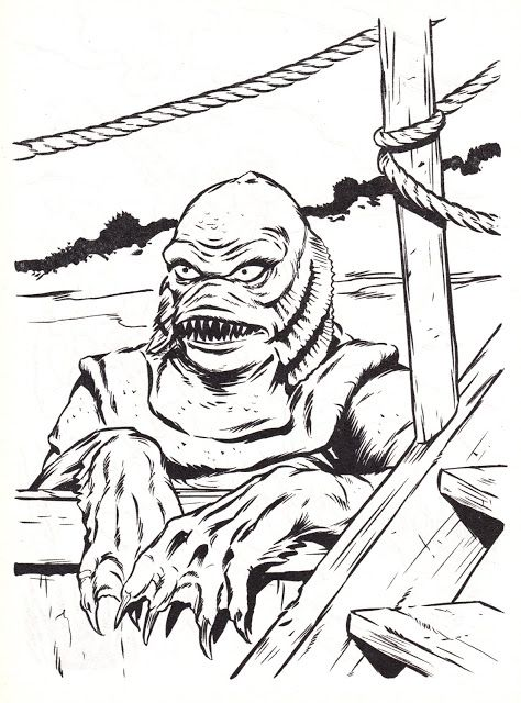 Universal Studios Monsters Big Coloring Book Creature From The