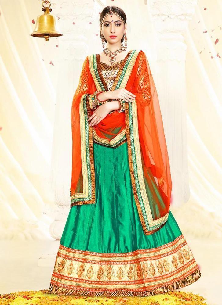 Pakistani Traditional Ethnic Choli wear Indian Lehenga Bollywood Bridal Wedding #Kriyacreation #CircularLehenga