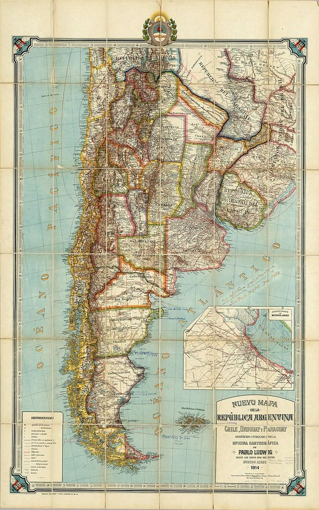 Map of Argentina (1914)