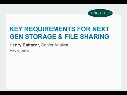 Webinar: Key Requirements for Next Gen Storage & File Sharing - YouTube