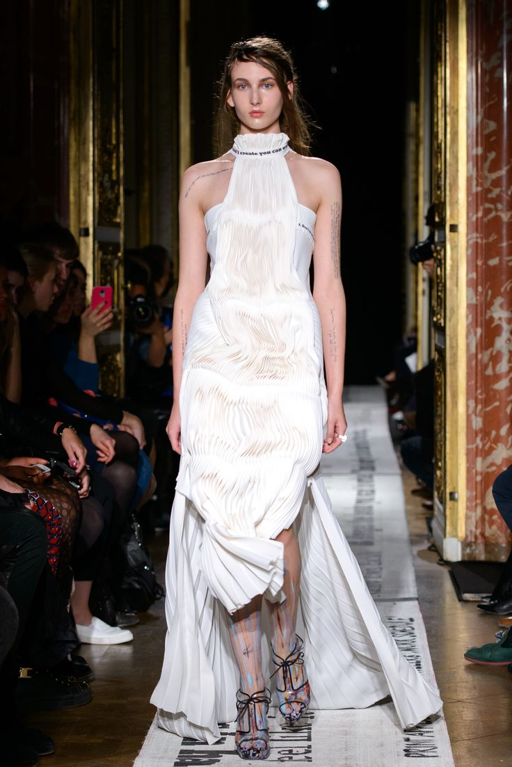 Gosia Baczyńska - Paris Fashion Week - SPRING/SUMMER 2015 - BLOG: www.yesismybless.com/inteligentna-prowokatorka-gosia-baczynska-w-paryzu / fot. Filip Okopny #summer #spring #collection #parisfashionweek #paris #poland #designer #catwalk #presentation #models #clothes #fashionshow