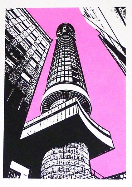 Nigel Kent - BT Tower (pink sky)