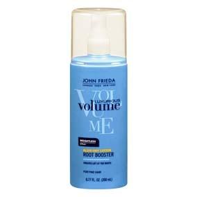 JOHN FRIEDA Luxurious Volume Lavish Lift Root Booster Spray para cabello con tecnología patentada full splendor, que penetra en la fibra capilar desde la raíz para lograr un cabello con volumen. Su fórmula permite que la fijación sea de larga duración, contiene polímeros de protección térmica y pantenol que protege de las herramientas de calor y fortalece el cabello.No contiene alcohol.