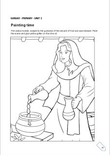 cbc lesson from 19th to 25th of may children biblical centre elisha and the widow - Elijah Bible Story Coloring Pages