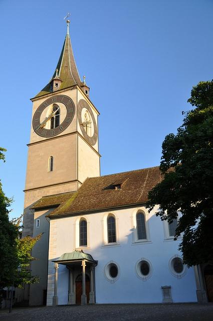 St Peter's Church, Zurich by RussBowling, via Flickr