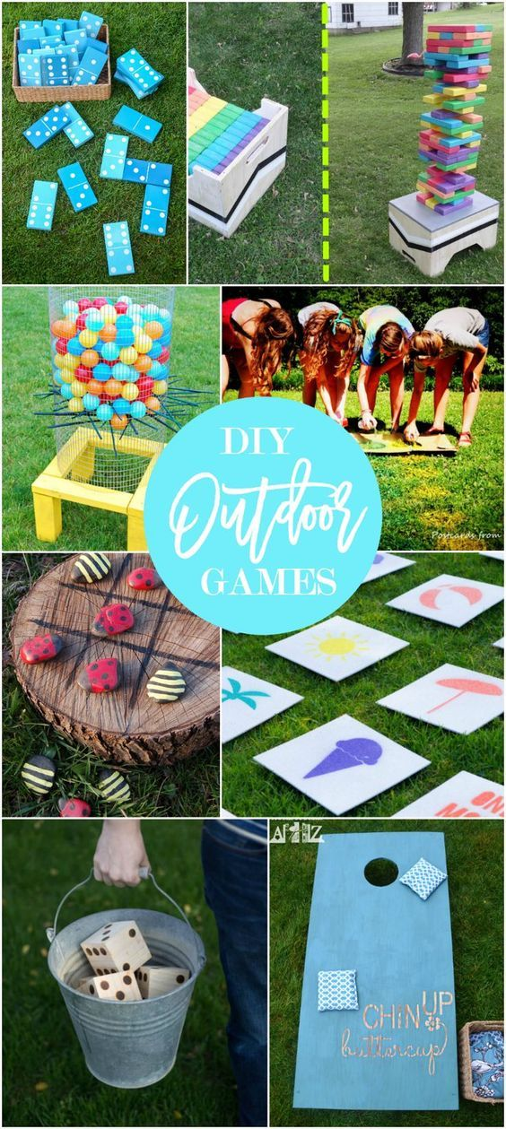 Popular pin! 17 DIY games for outdoor family fun backyard game tutorials