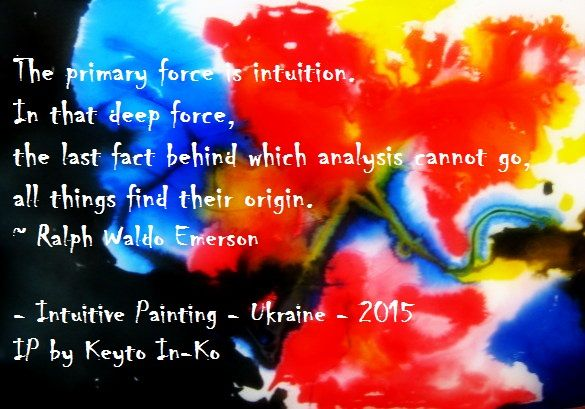 #intuition - Intuitive Painting (IP) work, Master Class on IP, 9 May 2015