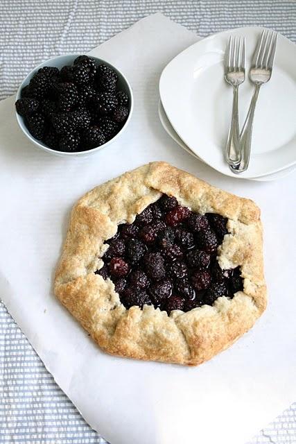 Blackberry Gallette- I love rustic berry desserts!