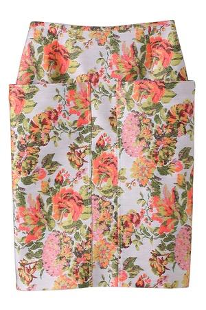 ステラ マッカートニーフローラルジャガードタイトスカート
