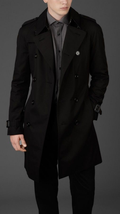 Burberry London mens raglan double breasted cotton trench coat 1