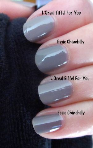 Essie – Chinchilly vs. L'Oreal – Eiffel For You