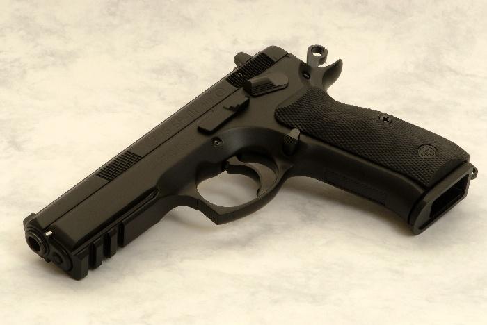 CZ SP-01 Tactical.   Stock grip design is amazing.