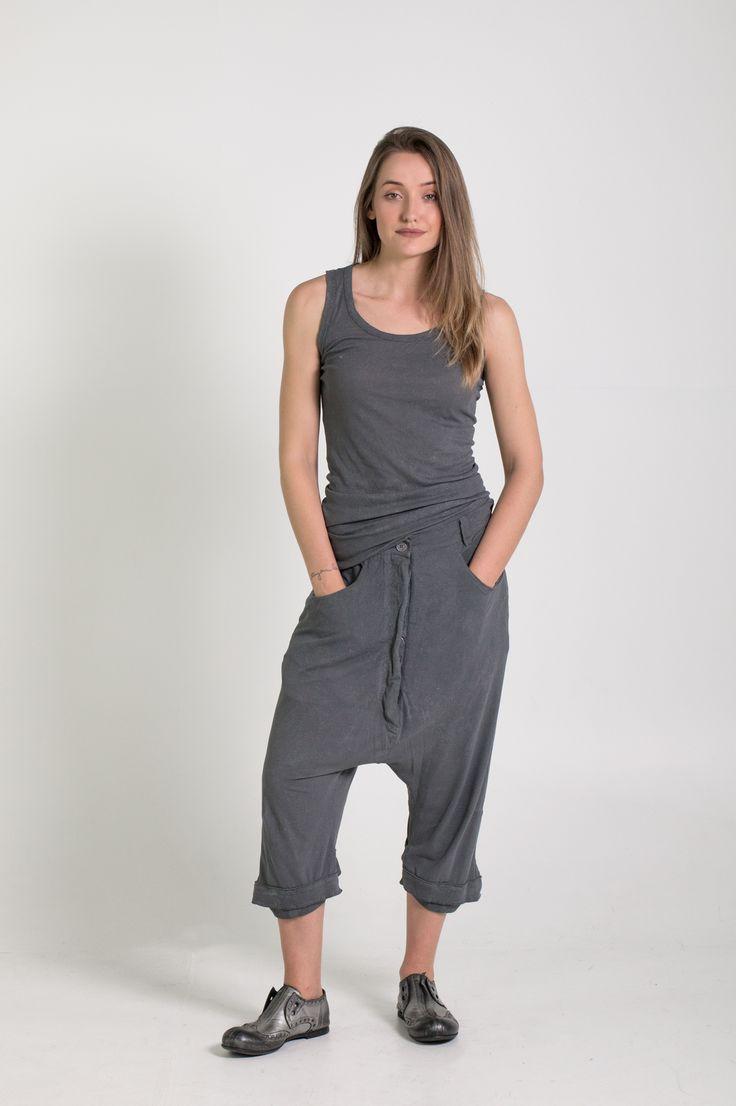 Rundholz Dip | Et Vous | Grey Drop Crotch Pants and Singlet