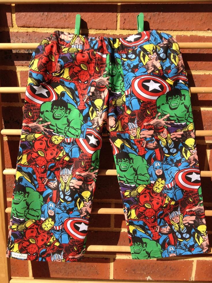 Marvel superhero boys shorts for Dallas xx
