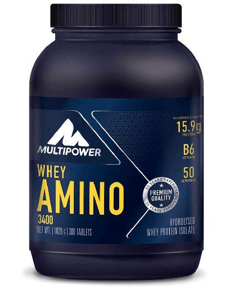 Multipower Whey Amino 3400 300 tablet, whey protein izolesinden elde edilmiş, serbest formda amino asit kompleksidir. Çiğnenebilir yapısı ile kullanımı kolay bir supplement olan Multipower Whey Amino 3400 üstün bir performansa sahiptir. Formülasyonunda konsantre ve kollajen proteinler yoktur.