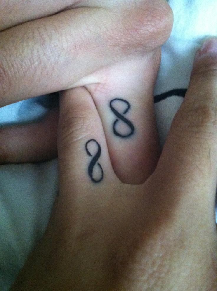 His and hers infinity tattoo