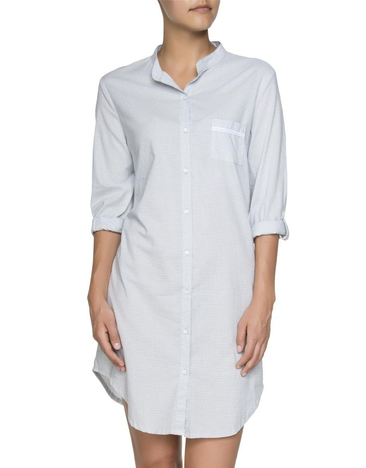 Gingham Cotton Nightshirt