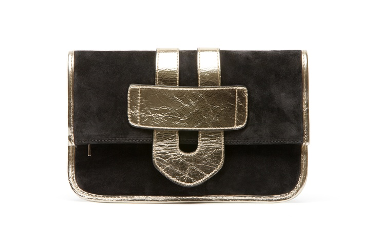 Zelig Clutch Metal Leather