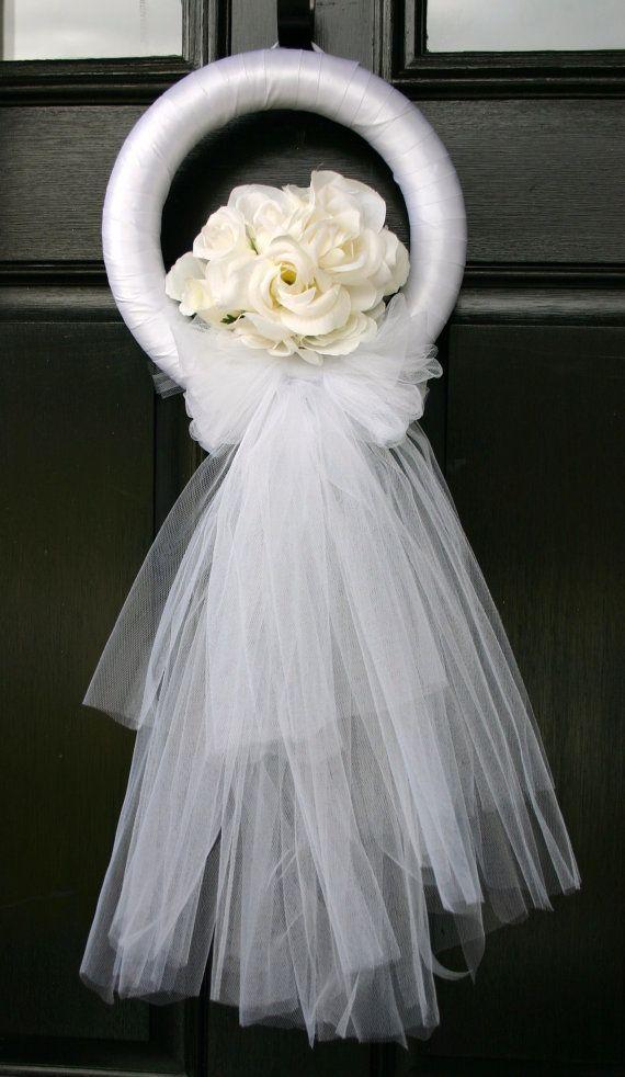 Wedding or bridal shower wreath by DelightfulDayDesigns on Etsy