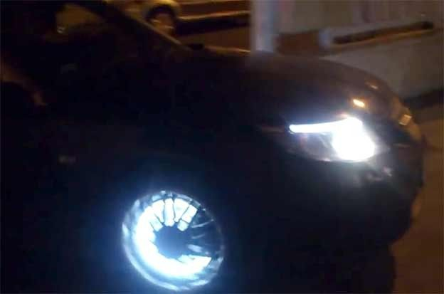 Saab 9-3 with LED Rims | http://www.saabplanet.com/saab-9-3-with-led-rims/
