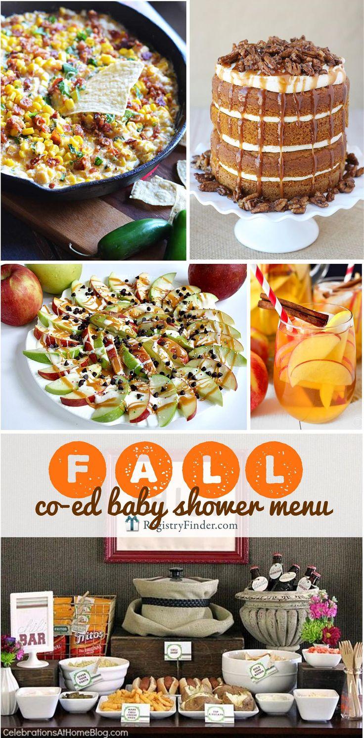 shower menu bridal shower menu baby shower menu fall wedding showers