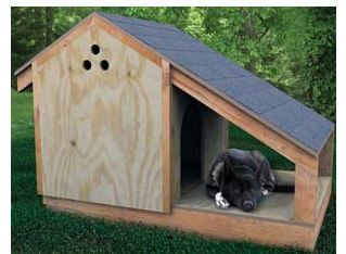 Easy Homesteading: Free Dog House Plans - With Porch