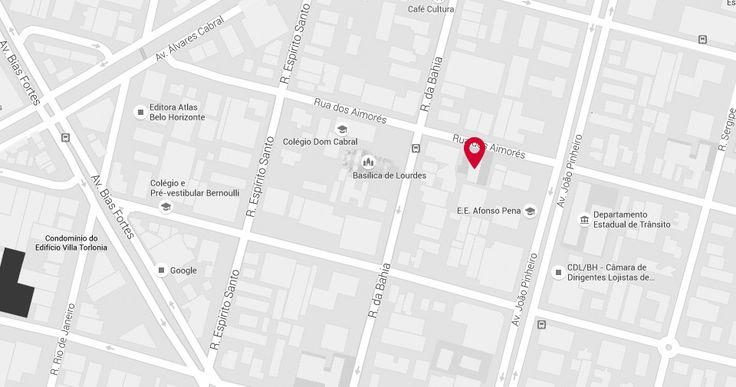 Mapa de localização do campi Campus Aimorés