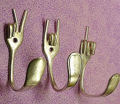 DIY: Silverware Wall Hooks Idea