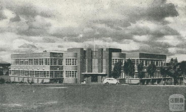Box Hill Boy's Technical School 1950's - now Box Hill Senior Secondary College.