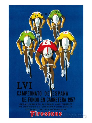 Bicycle Race Promotion Art by Lantern Press at AllPosters.com