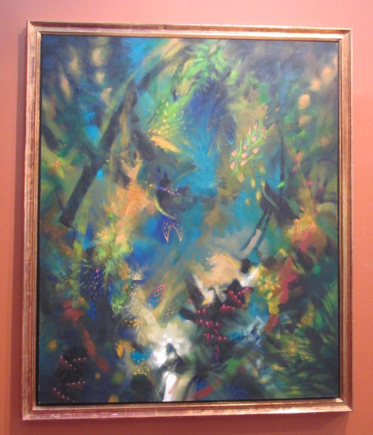 Cascabel manta Óleo sobre lienzo 170 x 140 cms 1996 Colección grupo Carvajal