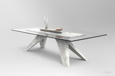 Table Béton by Jimmy Delatour. Concrete table. www.delatourdesignlab.com Furniture design, design de mobilier.