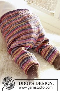"""Knitted DROPS pants in """"Fabel"""". ~ DROPS Design"""