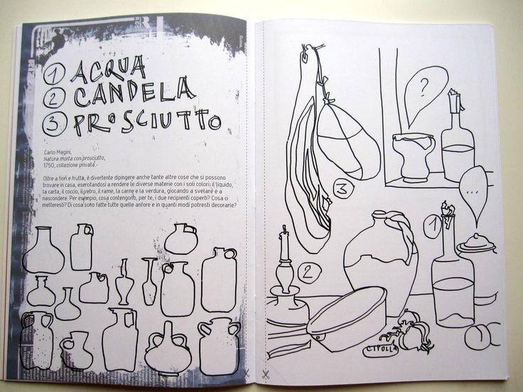 Viene voglia di prendere pennarelli e pezzi di carte da collage per riempire i vasi di Carlo Magini con pozioni magiche o ritagliare il vaso di fiori di Brugel per colorarlo meglio e appenderlo in cucina.