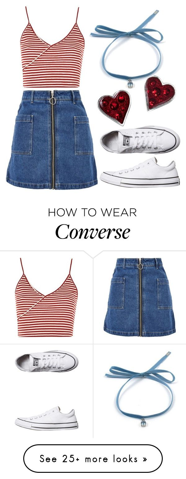 """""""Untitled #1668"""" by milesofsmiles12345 on Polyvore featuring Topshop and Converse"""