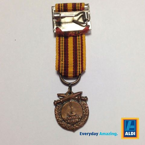 Do you recognise this medal? It was found in the car park of the local Aldi store in Port Talbot, Wales on 23rd November. Please get in contact if this medal belongs to you – we'd love to reunite it with its owner.