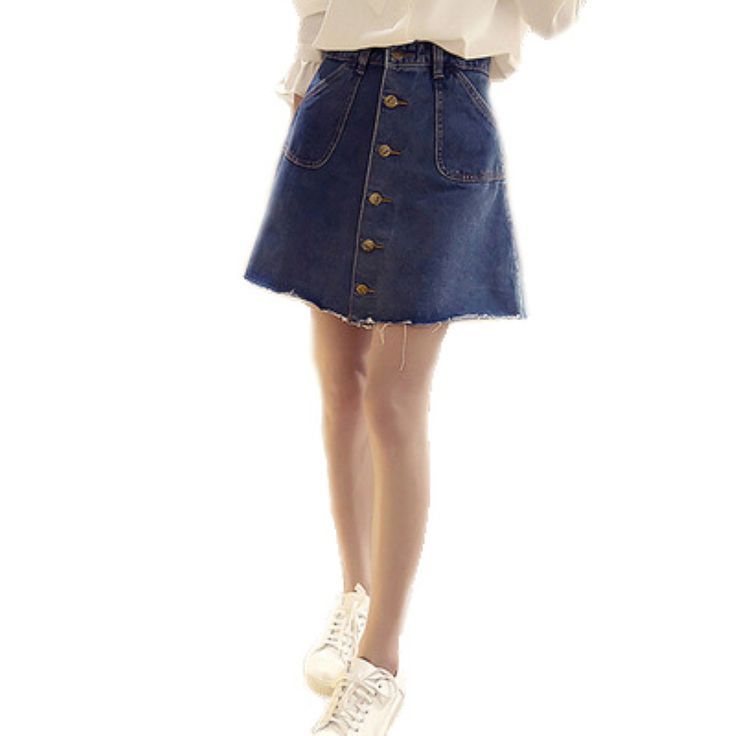 Find More Skirts Information about 2016 Summer New  Women Wild Flash Single High Waist Slimming Denim Skirt,High Quality skirt mini,China skirt accessories Suppliers, Cheap denim skirts short from Comme t'y es belle! on Aliexpress.com