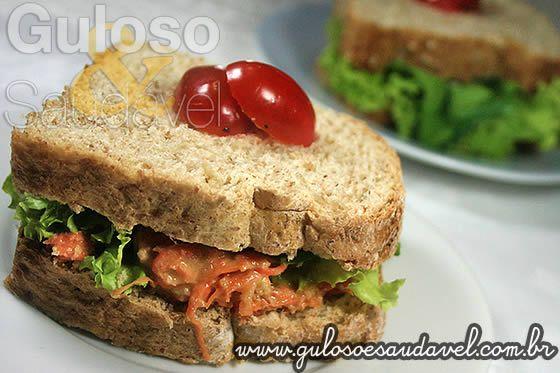 Sanduíche de Pão Integral com Patê de Atum » Receitas Saudáveis, Sanduíches » Guloso e Saudável
