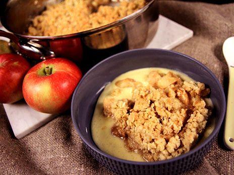 Äppelsmulpaj med dulce de leche   Recept från Köket.se