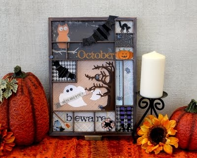 Halloween Tray made with Lifestyle Crafts and 7 Gypsies.  #Lifestyle #Crafts, #Halloween