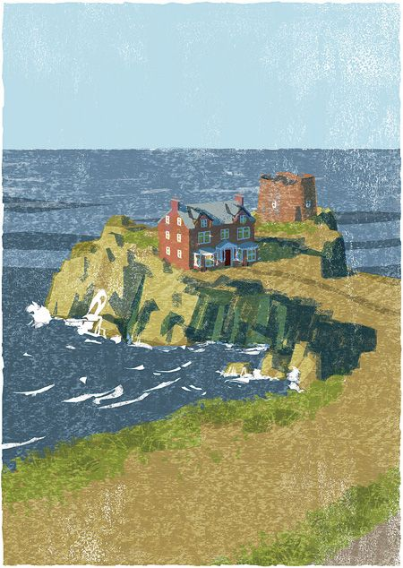 The Folio Society's edition of The Sea, The Sea by Iris Murdoch, and illustrated by Tatsuro Kiuchi,