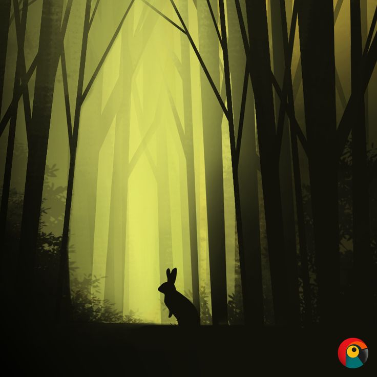 Happy Hunting By: Pixel Parrot http://www.pixelparrot.co.za/  Bunny Forest Illustration