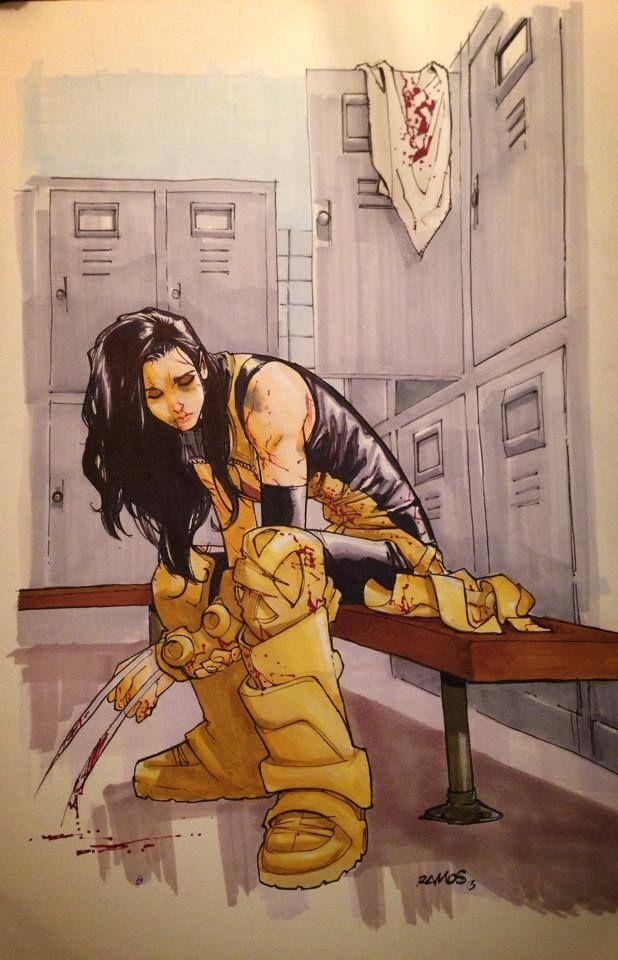 Eu amei essa imagem representando que heróis também se machucam, ela demonstra tantos sentimentos que da até para sentir..