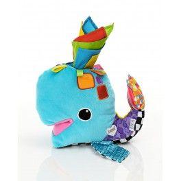Come in una vera balena sul suo dorso il bambino troverà un foro dove poter infilare e togliere i fazzoletti colorati. Questa attività diverte e stupisce i bambini!