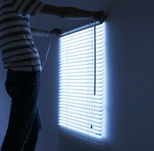 Fake Window Light - For basement apartment, with full spectrum light as the back light. Doesn't have to be a blind in front.