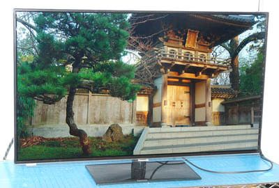 Photo of the front view of the Panasonic TC-L42E60 Smart Viera LED/LCD TV