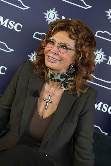 Sophia Loren en el bautismo del #MSCPreziosa