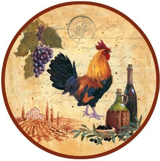 Rooster and wine