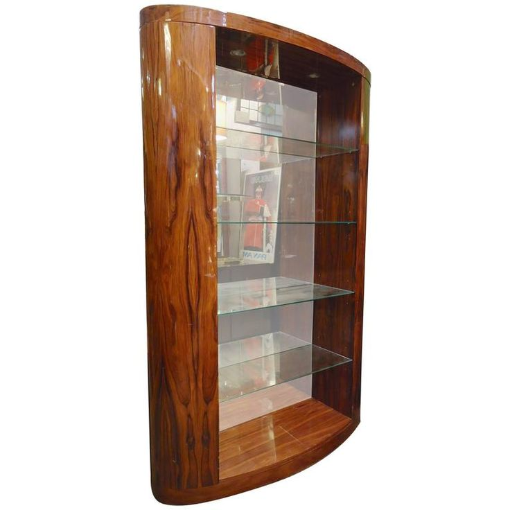 deco style rosewood bookcase modern