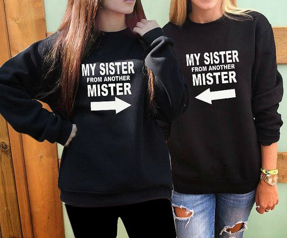 2 Matching Best Friend sweatshirts Best Friends Gift by FavoriTee